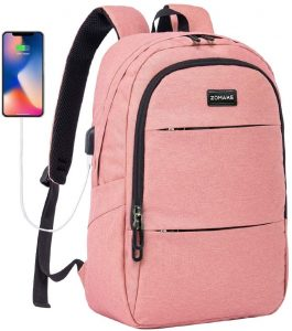 Laptop Backpack Slim Water Resistant College School Computer Backpack with USB Charging Port
