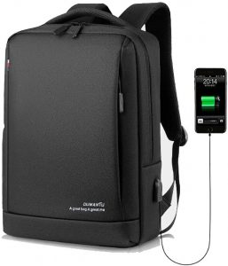 Slim Laptop Backpack Business Travel Durable Laptops Backpack with USB Charging Port