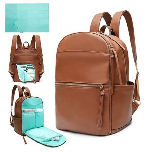 Diaper Bag Backpack Mominside Leather Diaper Bag for Mom and Dad