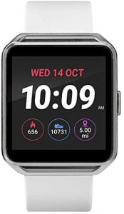 iConnect By Timex Classic Square Touchscreen Smartwatch with Heart Rate